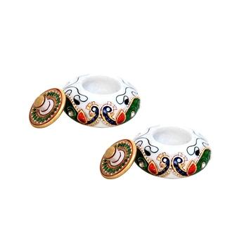 Handicrafts Paradise sindoor dani pair peacock design