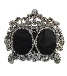 Photo Frame Double Picture Victorian Style in Metal
