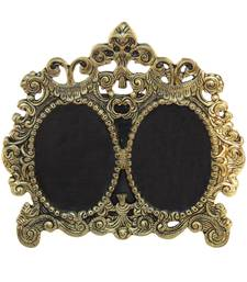 Photo Frame Antique Golden Double Picture Victorian Style in Metal