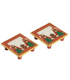 Marble Puja Chowki pair with Kalash