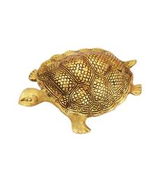 Tortoise big antique gold plated in metal