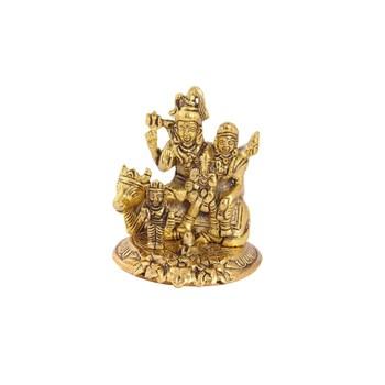 Shiv Parivar in metal antique gold finish