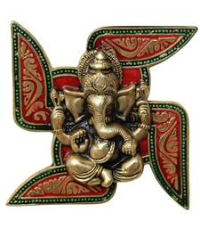 Wall Hanging Ganesha Placed on Swastik