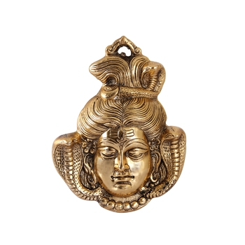 Hanging of Lord Shiva in Antique golden finish