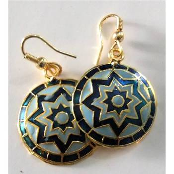 Blue Meenakari Earrings