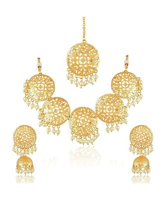 Gold Metallic Necklace Sets