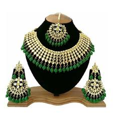 Jewellery Sets For Women Gold Plated Kundan Bridal Necklace Jewellery Set With Earrings