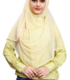 Justkartit Casual Wear Instant Stitched 2 Loop Net Lycra Hijab Scarf For Women (To Be Worn On Hijab Cap)