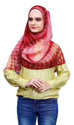 Justkartit Soft Net Lycra Ready To Wear Hijab Scarf For Women (To Be Worn On Hijab Cap)