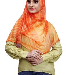 2 Loop Stitched Soft Net Lycra Hijab Scarf For Women (To Be Worn On Hijab Cap)