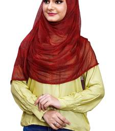 Net Lycra Stitched Hijab Scarf For Women (To Be Worn On Hijab Cap)