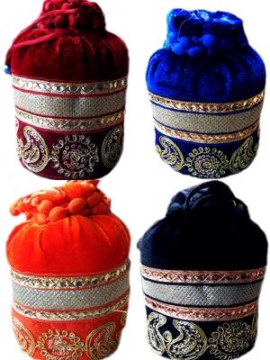 Rajasthani Traditional Gota Patti Velvet Potli