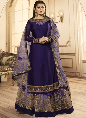 Purple Georgette Pakistani Salwar Kameez