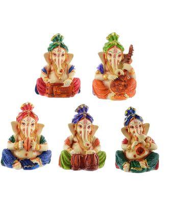 Lord Ganesha Musician Polyresin