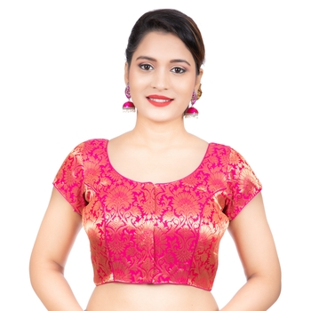Brocade Rani Short Sleeves Readymade blouse