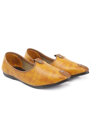 Casual Ethnic Tan Juttis Shoes For Men