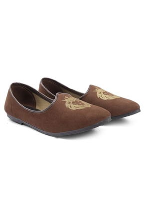 Casual Ethnic Brown Juttis Shoes For Men