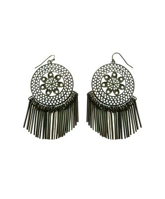 Black Beauty Indo Western Look Earrings For Women