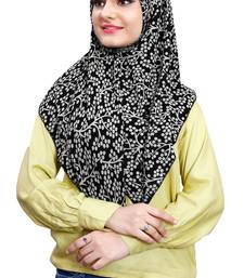 Black White Soft Chiffon Printed 100 * 100 Square Scarf Hijab Dupatta For Women