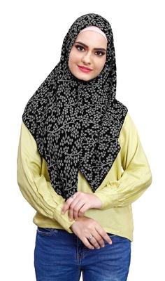 Daily Wear Soft Chiffon Printed Square Scarf Hijab Dupatta For Women (100 * 100 Cm)
