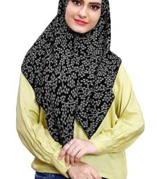 Daily Wear Soft Chiffon Printed Square Scarf Hijab Dupatta For Women (100 * 100 Cm)