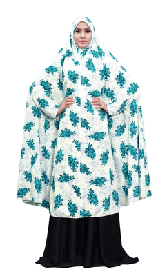 Printed Viscose Lycra Chaderi Abaya Burqa For Women (Green)
