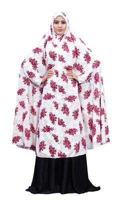 Printed Viscose Lycra Chaderi Abaya Burqa For Women (Pink)