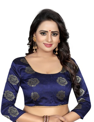 Rani pink printed nazneen saree with blouse