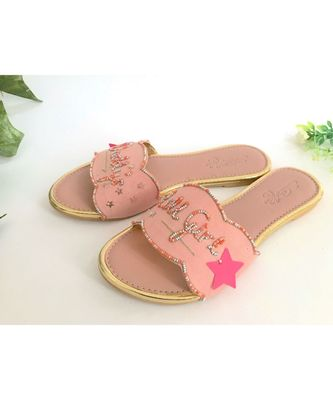 pink leather Daddy's Lill Girl  flats footwear