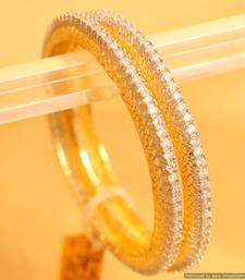 Embellished Diamond Look Single Line Bangles