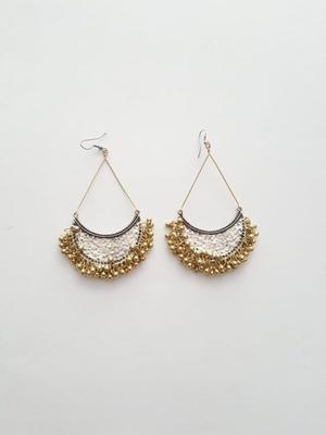 Gold Plated Ghungroo Chandbali