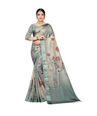 Womens Kota doriya Party and Wedding wear Saree With Exclusive Floral Chex Print