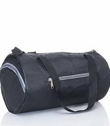Premium Black Color Gym Bag Sports Duffel with Shoe Compartment 34 L