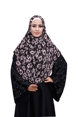 Justkartit Outdoor Wear Soft Chiffon Printed Square Scarf Hijab Dupatta For Women