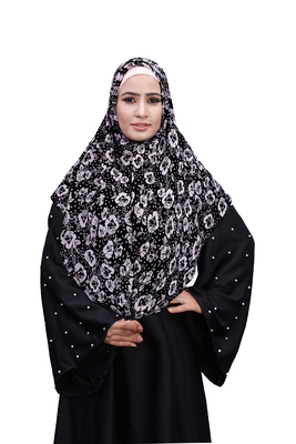 Justkartit White Color Chiffon Square Scarf Hijab Dupatta For Women