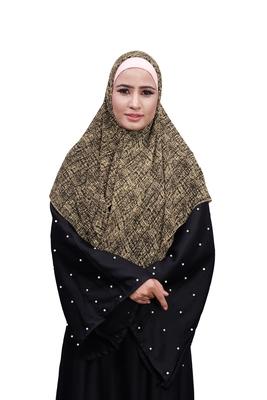 Justkartit Occasion Wear Women Printed Chiffon Square Scarf Hijab