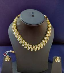 Gold crystal necklaces