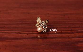 Golden Diamond  Pearl RING, Adjustable Handmade, Precious Stone Jewelry