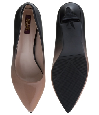 brown pointed toe ballerinas heels