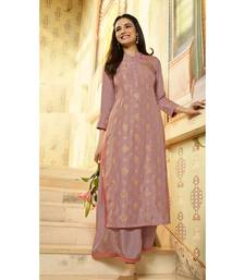 Pink Embellished Printed Party wear kurti