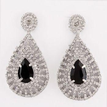 Beautiful Party Danglers in Austrian Diamonds