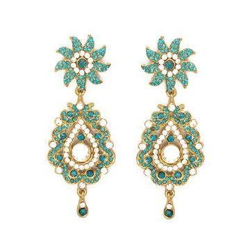 Flower Earrings in Austrian Diamonds