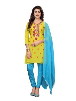Lime jacquard art silk salwar