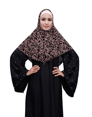 Justkartit Ivory Color Women Chiffon Square Scarf Hijab