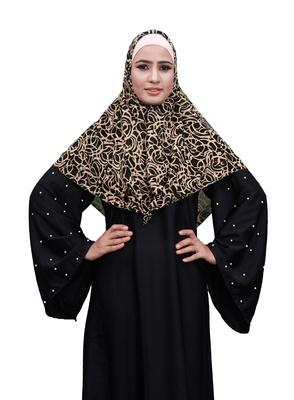 Justkartit Violet Color Party Wear Women Chiffon Square Scarf Hijab