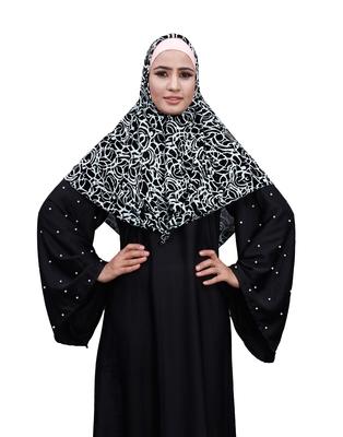 Justkartit White Color Women Chiffon Square Scarf Hijab