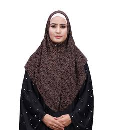 Justkartit Soft Chiffon Printed Square Scarf Hijab Dupatta For Women