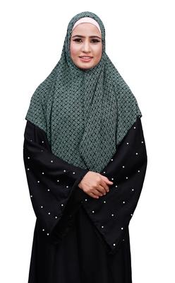 Justkartit Women'S Casual Wear Chiffon Square Scarf Hijab (Pista, 100 * 100 Cm)