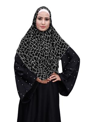 Justkartit Occasional Wear Chiffon Square Scarf Hijab For Women