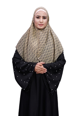 Justkartit Beige Color Daily Wear Women Chiffon Square Scarf Hijab